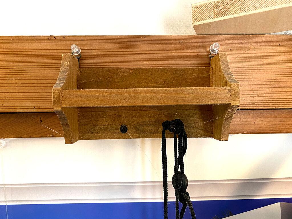 インテリア木製ウォールラックの写真2